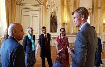 Minister of External Affairs Shri M. J. Akbar meets Swedish Ambassador to India Mr. Klas Molin at the Swedish Ministry of Foreign Affairs
