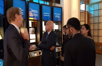 Minister of External Affairs Shri M. J. Akbar visits Nobel Museum followed by guided tour by Museum Director Mr. Olov Amelin