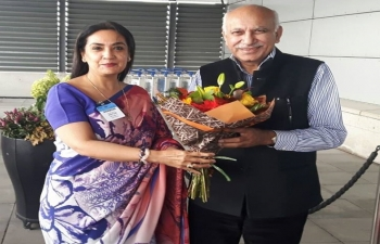 Minister of State for External Affairs Shri. M.J. Akbar arrived in Stockholm on an official visit