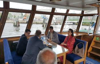 India's Minister of Road Transport, Highways and Shipping Nitin Gadkari meets Gothenburg Mayor Ann Sofie Hermansson on 16 June 2017