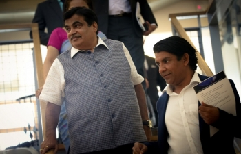 India's Minister of Road Transport, Highways and Shipping Nitin Gadkari inaugurates Smart City Smart Village Hackathon on 16 June