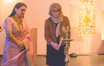 Celebrating Krishna by eminent artist Dr. Sangeet Gandhi at Swedish Museum of Performing Arts on 22 March 2017