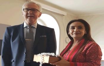 Ambassador Monika Kapil Mohta meets with Karlskoga municipality Lord Mayor Anders Ohlsson