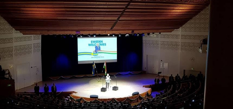 PM Modi addressing the Indian Community in Stockholm on 17th April
