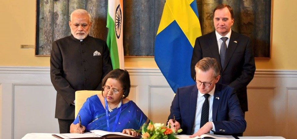 Two documents were agreed to between India and Sweden following the delegation-level talks led by PM Narendra Modi and Swedish PM Stefan Löfven