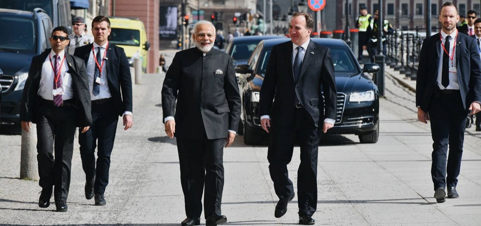 PM Narendra Modi and Swedish PM Stefan Löfven held talks in Stockholm on 17 April 2018