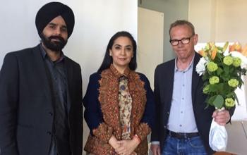 Ambassador of India H.E. Monika Kapil Mohta's tour of Skane Region