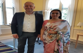 Ambassador meets Swedish Left Party Leader Jonas Sjöstedt in Stockholm on 28 May 2018