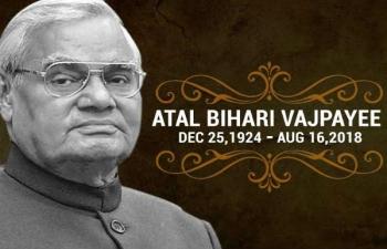 Demise of Former Prime Minister Atal Bihari Vajpayee