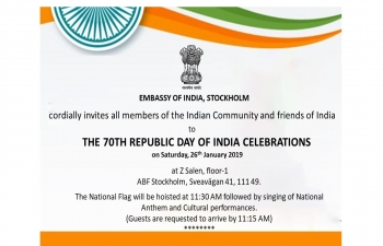 Flag Hoisting Ceremony of the 70th anniversary of the Republic Day of India