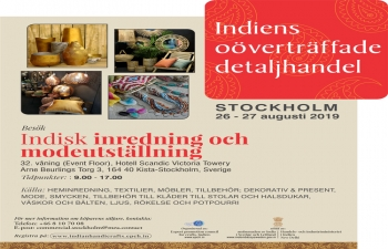 EPCH Handicrafts Exhibition & Buyer - Seller Meeting, Stockholm August 26 - 27, 2019.