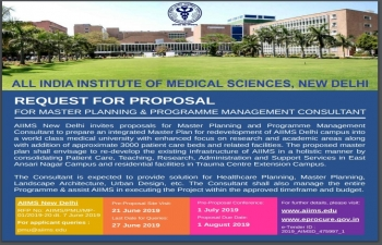 RFP No. AIIMS/PMU/MP-01/2019-20