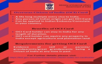 OCI CARD INFORMATION FOR KIP PARTICIPANTS HAVING INDIAN ORIGIN.
