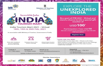 3rd India Tourism Mart (ITM), Scheduled from February 18-20, 2021